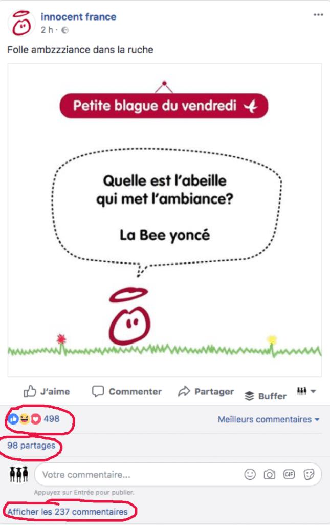 Algorithme Facebook - les signaux